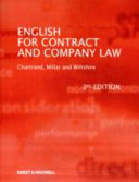 English for Contract and Company Law PDF