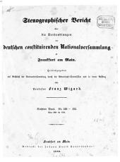 Stenographischer Bericht über die Verhandlungen der Deutschen Constituirenden Nationalversammlung zu Frankfurt am Main: 6. 1849