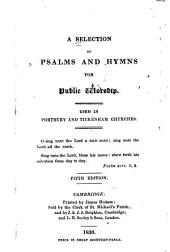 A selection of psalms and hymns for public worship: used in Portbury and Tickenham churches