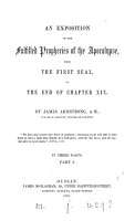 An exposition of the fulfilled prophecies of the Apocalypse from the first seal to     chapter xix PDF