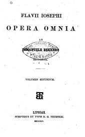 Flavii Iosephi Opera omnia ab Immanuele Bekkero recognita: Τόμος 2