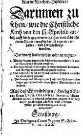 Kurze Kirchen-Historia