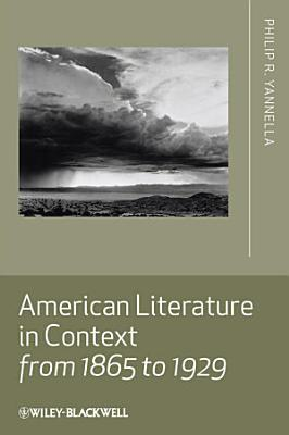 American Literature in Context from 1865 to 1929 PDF