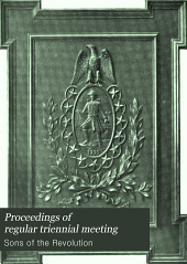 Proceedings of Regular Triennial Meeting