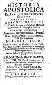 Historia apostolica0: ex antiquis monumentis collecta