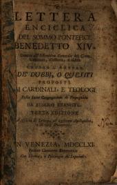 Lettera enciclica del sommo pontifice Benedetto XIV.