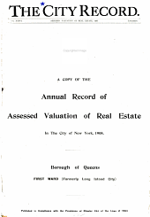Annual Record of Assessed Valuation of Real Estate in the City of New York PDF