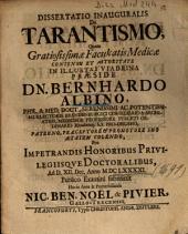 Dissertatio Inauguralis De Tarantismo