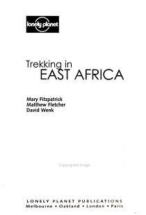 Trekking in East Africa PDF