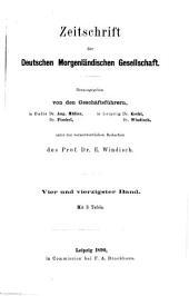 Zeitschrift der Deutschen Morgenländischen Gesellschaft: Band 44