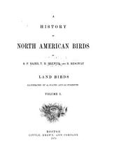 A History of North American Birds: Volume 1
