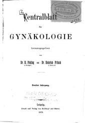 Zentralblatt für Gynäkologie: Band 2