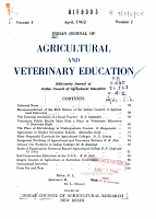 Indian Journal of Agricultural and Veterinary Education PDF