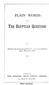 Plain words on the Egyptian question: Volume 19