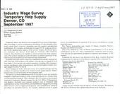 Industry wage survey: Temporary help supply