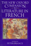 Download The New Oxford Companion to Literature in French Book