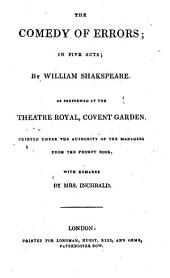 The British Theatre: Or, a Collection of Plays, which are Acted at the Theaters Royal ... : With Biographical and Critical Remarks. Comedy of errors. Romeo and Juliet. Hamlet. King John. King Richard III.