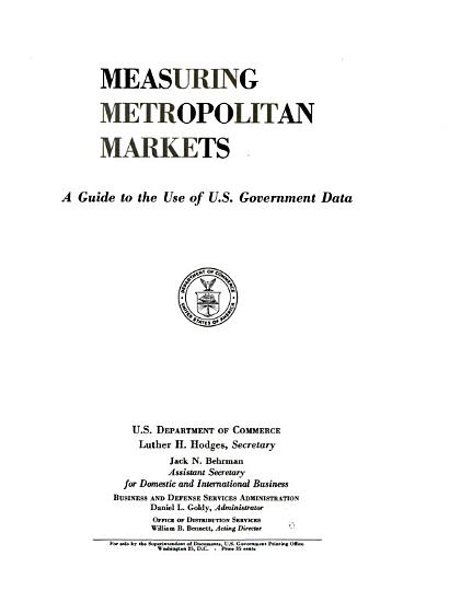 Measuring Metropolitan Markets PDF