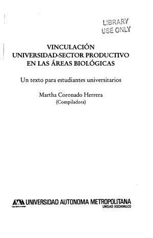 Vinculaci  n universidad sector productivo en las areas biol  gicas PDF