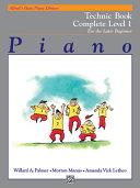 Alfred's Basic Piano Library Piano Course, Technic Book Complete Level 1