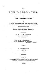 The Poetical Decameron, Or Ten Conversations on English Poets and Poetry
