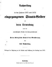 Verhandlungen der Stände-Versammlung des Großherzogtums Baden: vom Landtage .... 1873,Beil.1