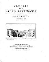 Memorie per la storia letteraria di Piacenza. Volume primo [-secondo]: 2