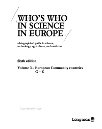 Who s who in Science in Europe PDF