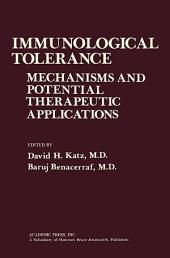 Immunological Tolerance: Mechanisms and Potential Therapeutic Applications