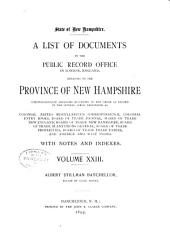 Provincial and State Papers: Volume 23