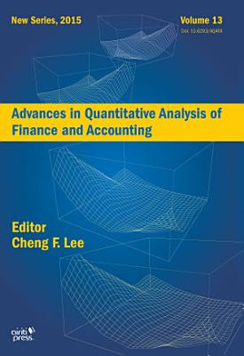 Advances in Quantitative Analysis of Finance and Accounting  New Series  Vol   13