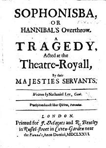 Sophonisba Or  Hannibal s Overthrow Book