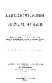The Rural Economy and Agriculture of Australia and New Zealand