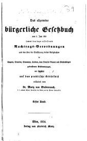 Das allgemeine burgerliche Gesetzbuch: Band 1
