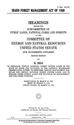 Idaho Forest Management Act of 1988