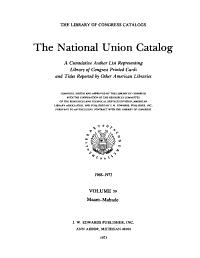 The National Union Catalogs  1963  PDF