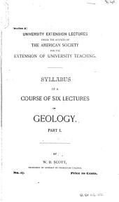 Syllabus of a Course of Six Lectures on Geology