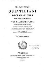 Marci Fabii Quintiliani Declamationes majores et minores ... cui novas lectiones et notas adjecit Joannes Josephus Dussault
