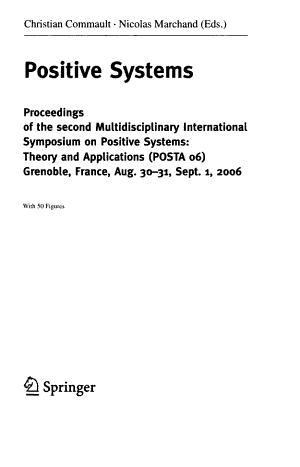 Positive Systems PDF