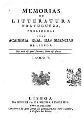 Memorias de litteratura portugueza: Volume 5
