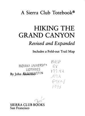 Hiking the Grand Canyon PDF