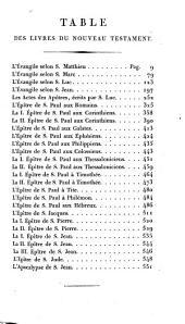 Le Nouveau Testament de Notre Seigneur Jésus-Christ, tr. sur la Vulgate par Le Maistre de Sacy...Ed. stéréotype, pub