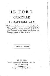 Il foro criminale: Volume 2