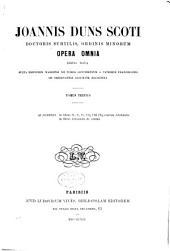 Opera omnia: Volume 3