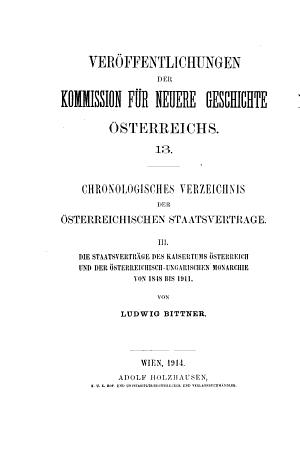 Chronologisches verzeichnis der   sterreichischen staatsvertr  ge     PDF