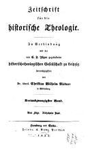 Zeitschrift f  r die historische Theologie PDF