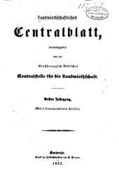 Landwirthschaftliches Centralblatt