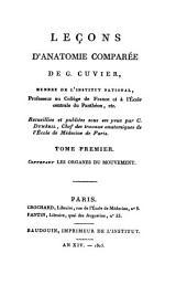 Leçons d'anatomie comparée de G. Cuvier...