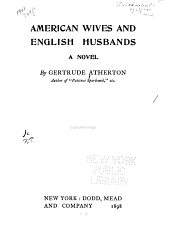 American Wives and English Husbands: A Novel