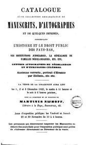 Veilingcatalogus, boeken van Rem van Limborgh ... [et al.], 1 tot 3 december 1862